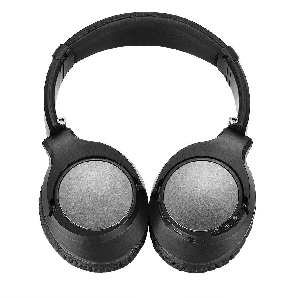Auriculares Inalambrico Bluetooth Cancelacion de Ruido Activa con APT-X HiFi Stereo Junwer V201 Over-Ear Headset con Mic