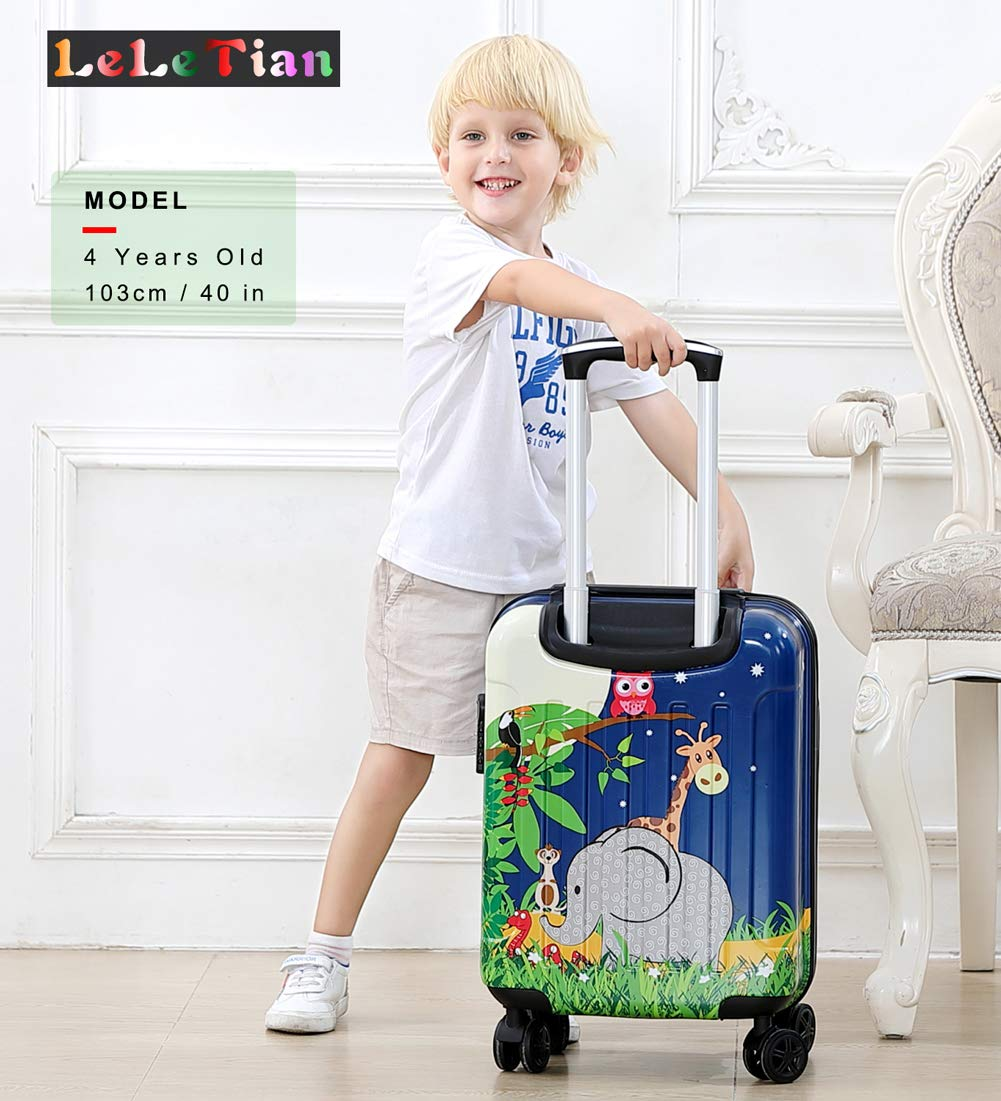 Boys Luggage Anti-scratch Suitcase 19in Hardshell Spinner Carry on PC+ABS Elephant LeLeTian by LeLeTian (Image #6)