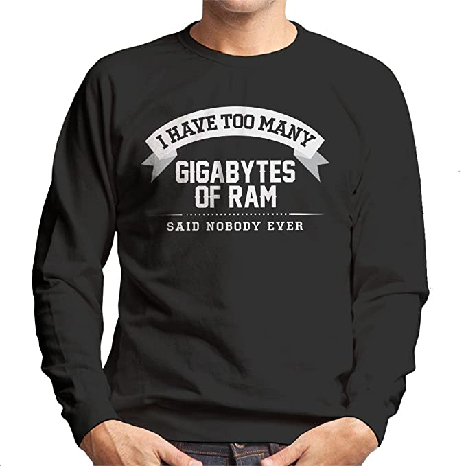 I Have Too Many Gigabytes Of Ram Said Nobody Ever Mens Sweatshirt