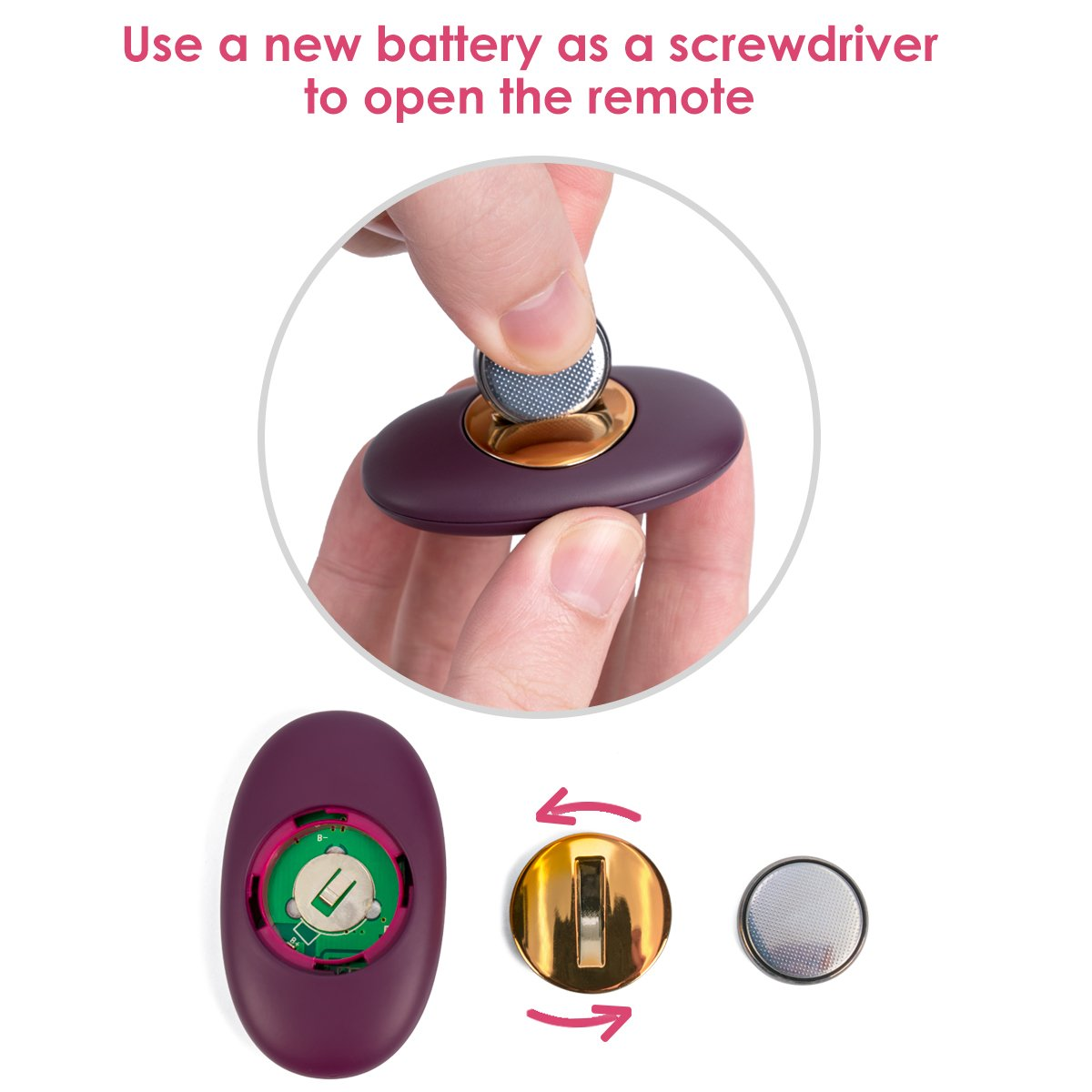 SVAKOM 5 Speeds Vibrator Egg, Wireless Vibration Massager USB Charging Waterproof Vibrators, Violet,Discreet Package