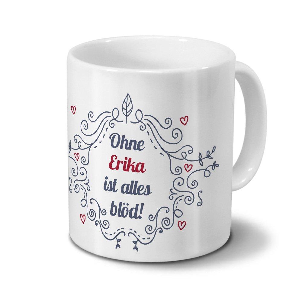 Taza con diseño de nombre de rosa - diseño de sin necesidad de colour rosa es todo idiota - adornos para árbol de diseño - el nombre de la taza, ...