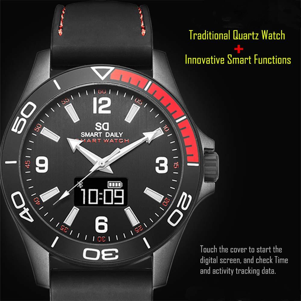 X5 - Reloj inteligente híbrido de fibra de carbono, resistente al agua, para hombre, con seguimiento de actividad, monitor de sueño, ...