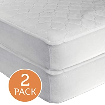 Amazon Com Sealy Waterproof Fitted Toddler And Baby Crib Mattress