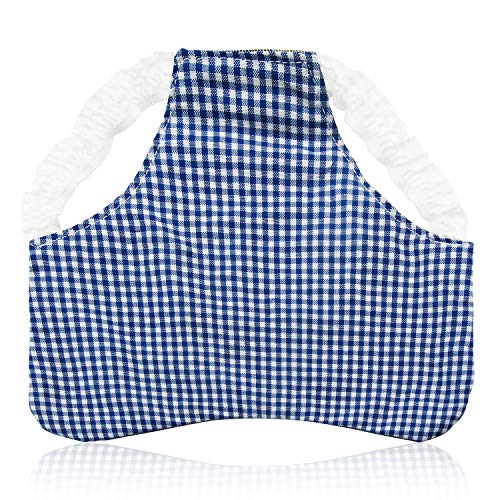heytech Chicken Saddles Hen Aprons Standard Size Elastic Shoulder Strap (Blue Lattice) ()