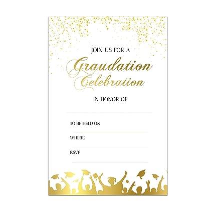 amazon com 25 graduation party invitations graduation