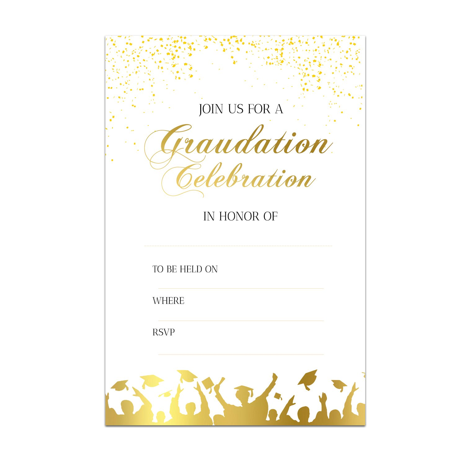 25 Graduation Party Invitations - Graduation Celebration Party Invites High School College Graduate