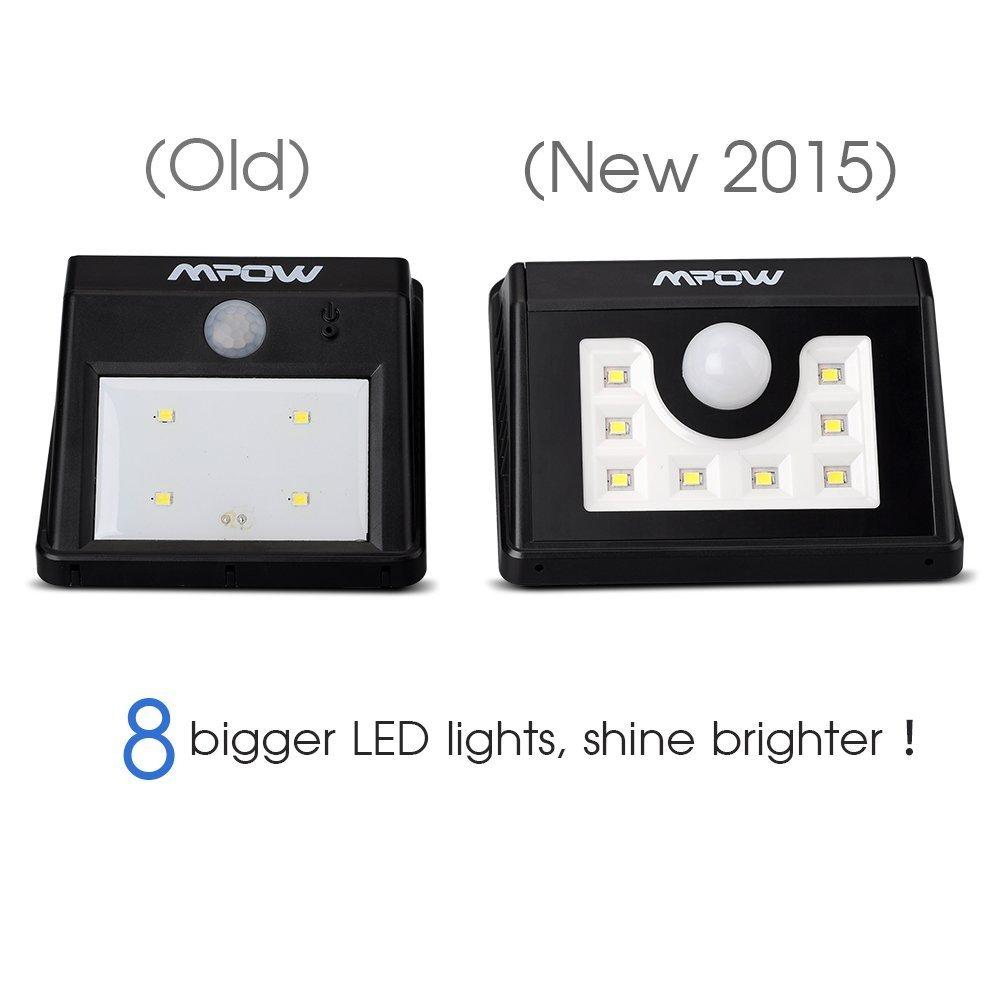 Lámparas Solares con 8 LEDs Impermeable con Sensor de Movimiento por solo 12,99€