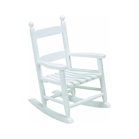 White Classic Childrenu0027s Rocking Chair Wood Toddler Indoor Outdoor Toy Gift  Seat