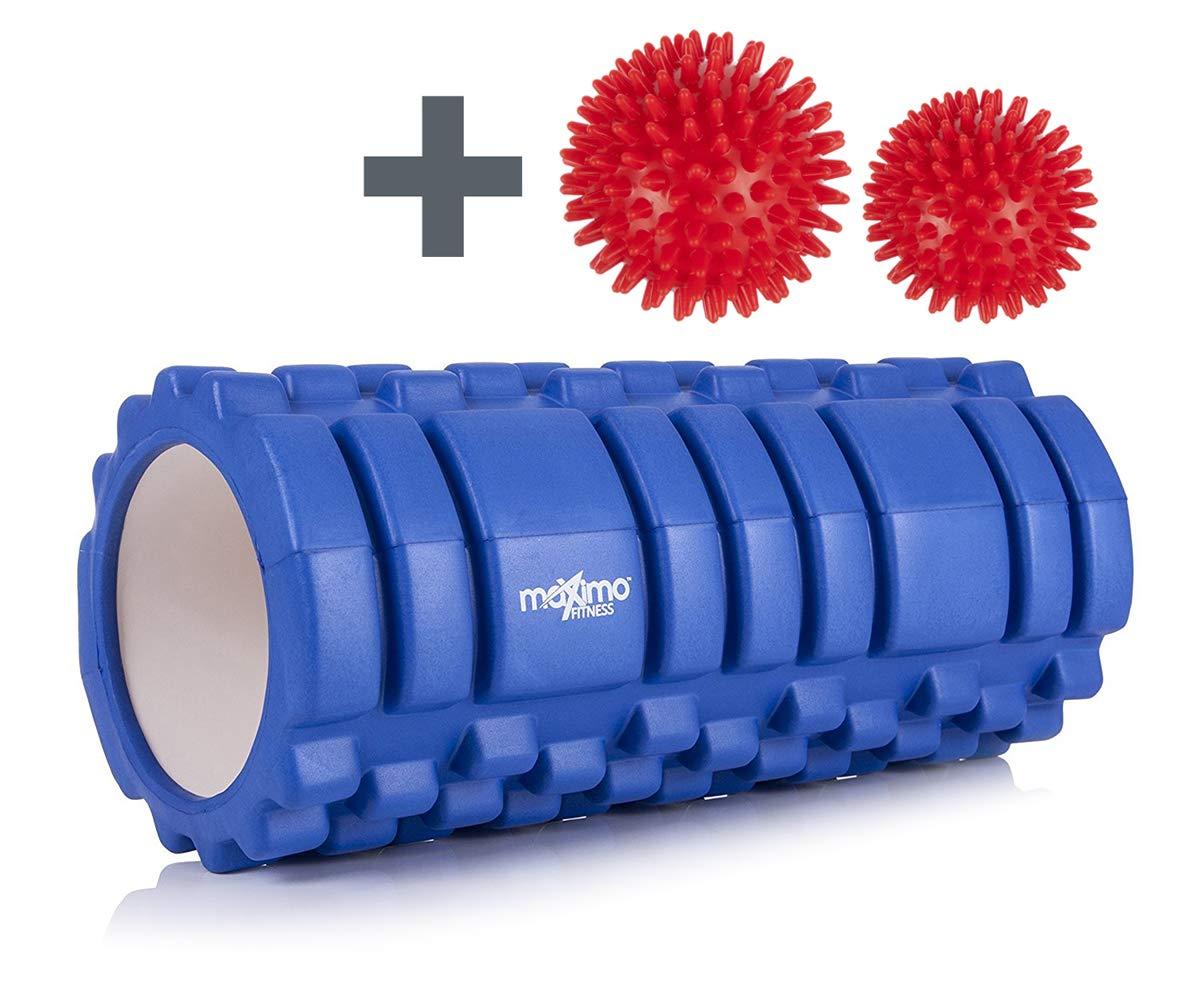 Maximo Fitness - Rodillo de espuma con diseño Trigger Point con 2 Bolas de Masaje,