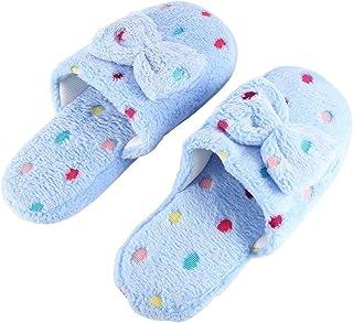 Pantoufles Confortables À La Mode en Tissu De Coton Pantoufles À Semelle Antidérapante Mignon Belle Intérieur Pantoufles pour Femmes - Bleu 40-41 Sanzhileg