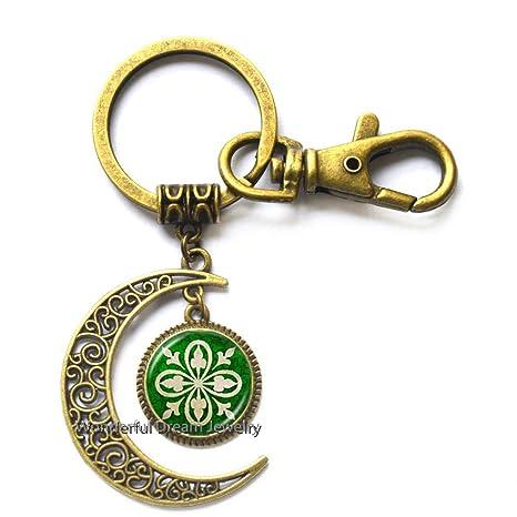 Amazon.com: Llavero irlandés de luna Irlanda joyería de ...