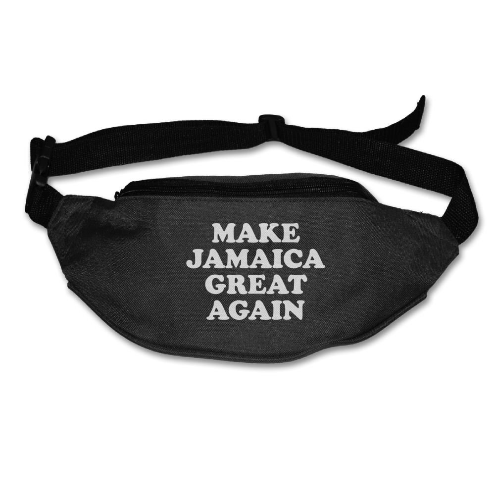 Make Jamaica Great Again Adjustable Oxford Cloth Belt Waist Pack Bag Fanny Pack for Outdoor Travel Sports Black SuFuncc