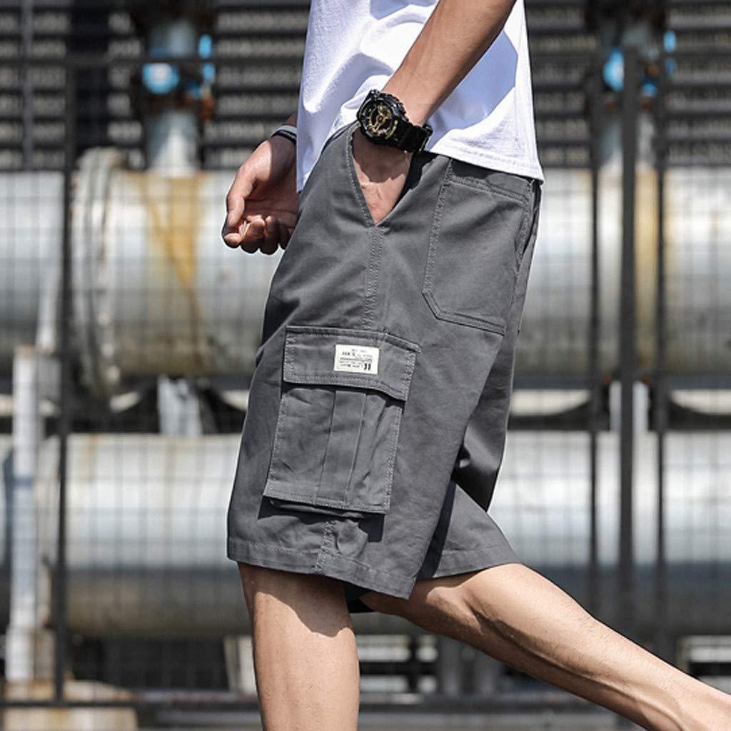 Vovotrade Uomo Pantaloncini Corti Vintage Bermuda Cargo Shorts