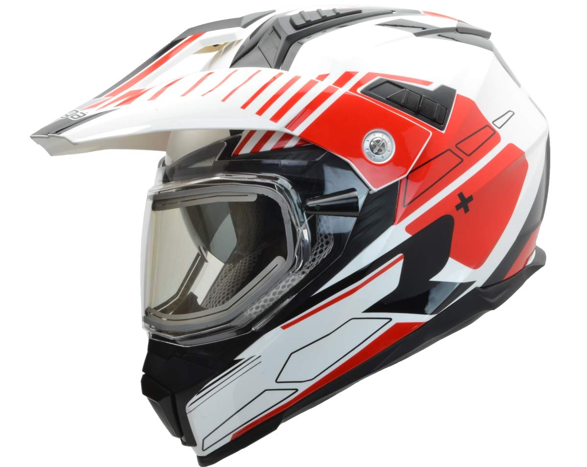 Hi-Vis Adventure Graphic X-Small 38215-511 Vega Helmets Unisex-Adult Off-Road Cross Tour II Sport Helmet with Heated Dual Lens Snow Shield