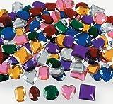 "Fun Express - Jumbo 1"" Assorted Adhesive Jewels (1-Pack of 100)"