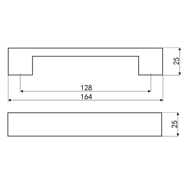 M/öbelgriff MARKANT Chrom poliert BA 128 mm Schrankgriff K/üchengriff Griff von SO-TECH/®