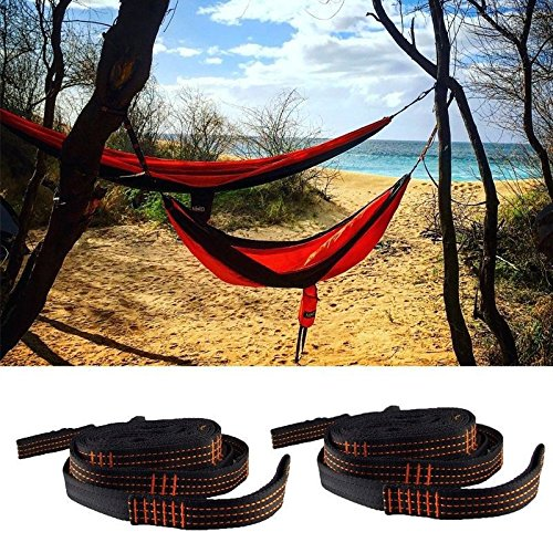 (Safety Solution Atlas Camping Adjustable Tree Hanging Heavy Duty Hammock Straps Suspension System (2 Straps with storage bag) for ENO)