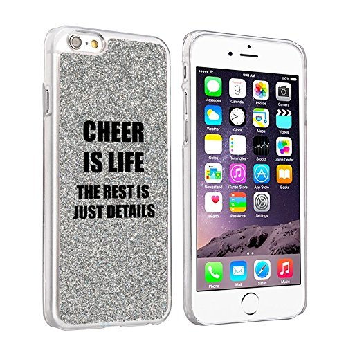 apple-iphone-6-plus-6s-plus-sparkle-glitter-bling-hard-back-case-cover-cheer-is-life-silver