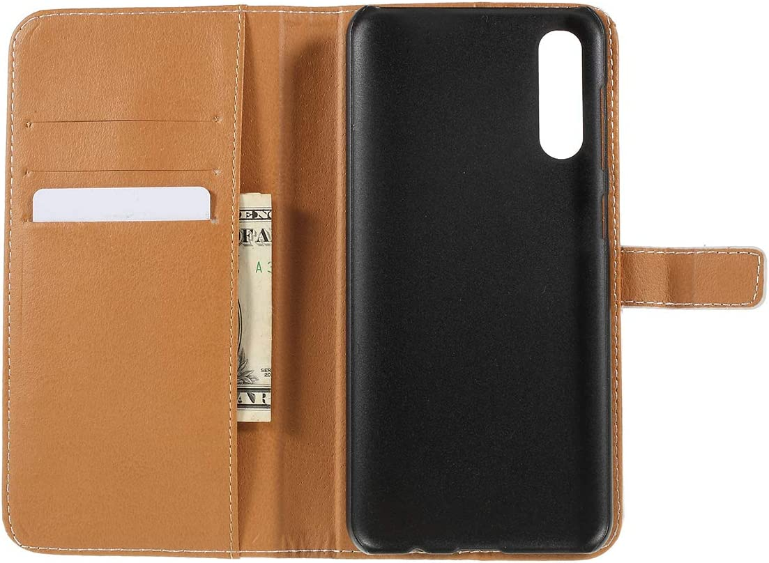 Galaxy A50 Case,UZER Color Painted Style Premium PU Leather Shockproof Kickstand Feature Wallet Case with Card Holder ID Slot Money Pocket Durable Magnetic Book Case for Samsung Galaxy A50 6.4 2019
