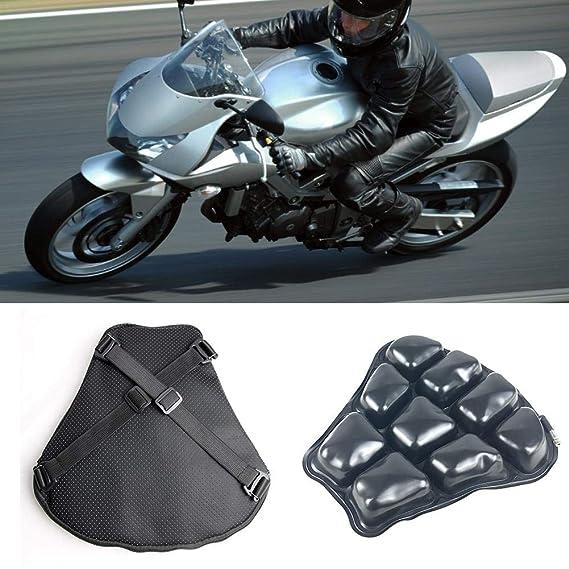 Further Cojín De Asiento De Motocicleta, Cojin Asiento Gel Moto, Funda De Cojín De Motocicleta 3D Cojín De TPU Cojín Inflable Absorbente Transpirable ...