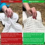 Muslin Burp Cloths - 4 Pack of Burp Rags, Burping