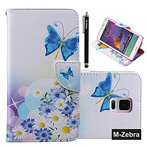Note 4 Case,M-Zebra Deluxe High Quality PU Leather Wallet Flip Case Cover for Samsung Galaxy Note 4 Case, with Screen Protectors+Stylus+Cleaning Cloth (Cell Phone Covers For Samsung 4)