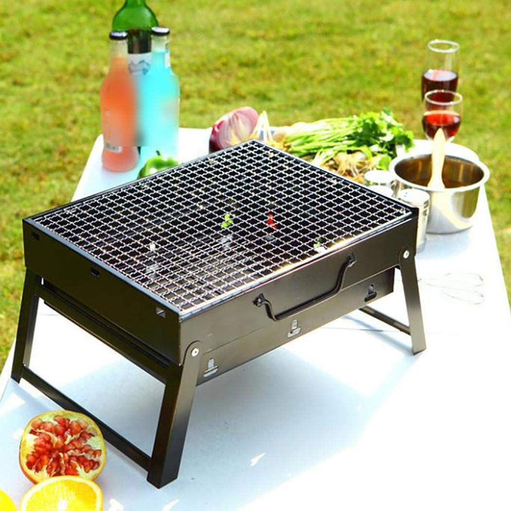ONERIOME Portable Barbecue Grill Foldable Charcoal Barbecue Oven Outdoor BBQ Picnics Grill for Cooking Outdoor Grilling Picnics