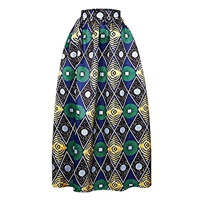 Yonala Women's Classic Floral Print High Waist A Line Maxi Skirts With Pocket hot sale