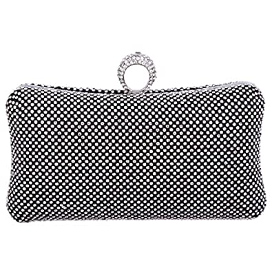 Ring Bling Wedding Clutch Crystal Party Purse Dress Clutches Evening Clutches For Women - Black ...