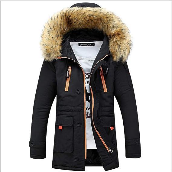 HAINE Jackets Women Men Coats Outdoor Fur Wool Warm Winter Long Unisex Hood  Coat Jacket  Amazon.co.uk  Clothing 82bdb9e9c