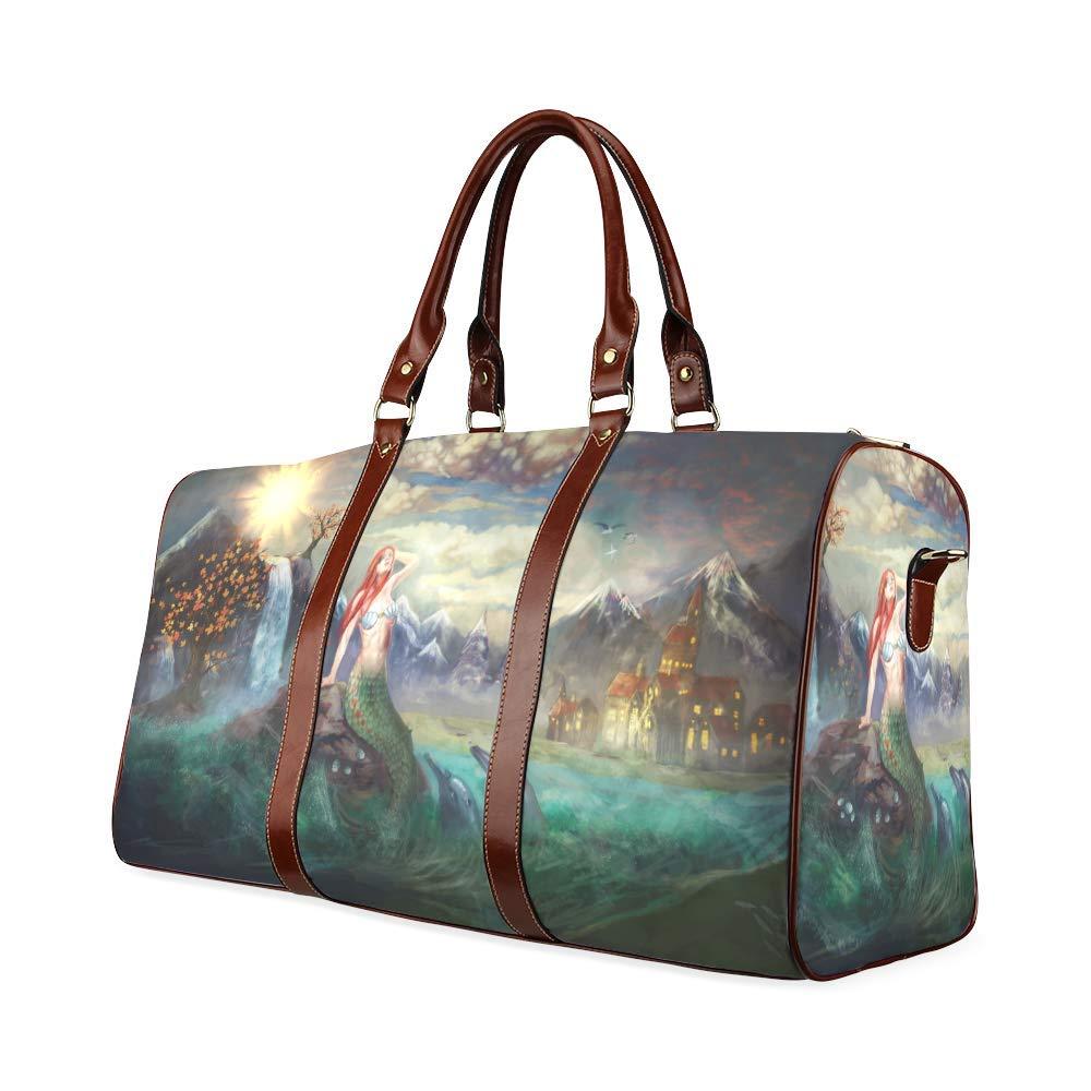 Travel Bag Mermaid Duffel Overnight Bag Waterproof Travel Bag Womens Weekender