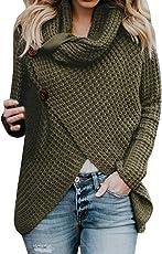 Big Teresamoon Women Long Sleeve Solid Sweatshirt Pullover Tops Blouse Shirt