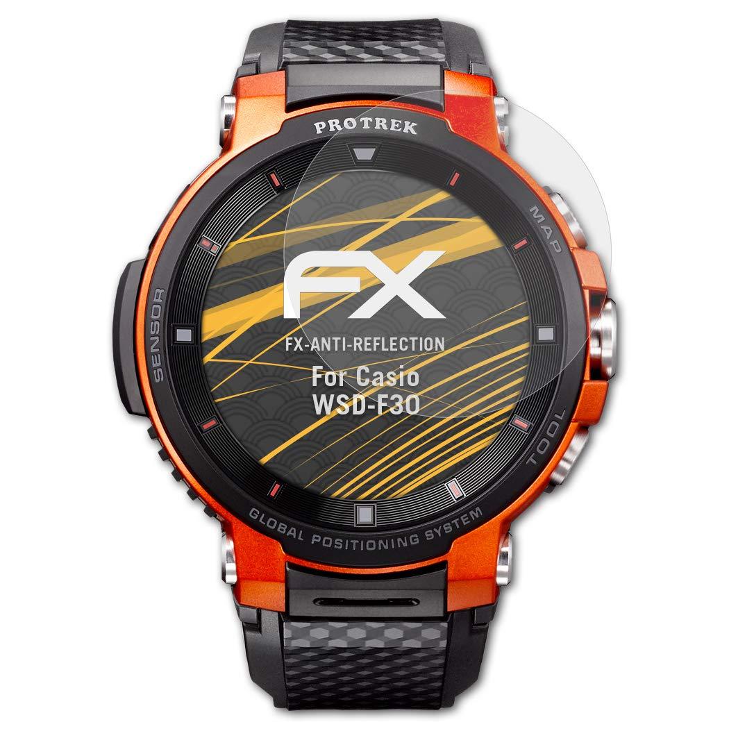 atFoliX Película Protectora Compatible con Casio WSD-F30 Lámina ...