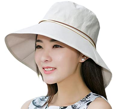 7f2267f8350 Leisial Sun Hat Ladies Women Summer Beach Straw Hat Sun Protection Foldable  Wide Brim Chic for