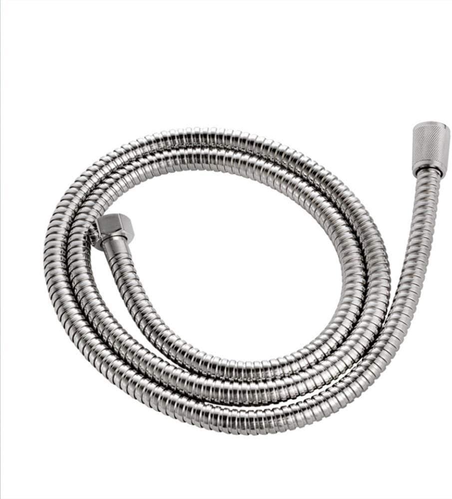 1.2m 1.5m 2m tubo de plomer/ía cromado de acero inoxidable flexible accesorios para bid/é de ba/ño manguera de ducha anti-giro-1.2m 1m