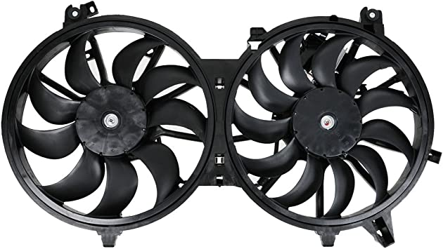 Amazon Com Dual Radiator Cooling Fan Assembly For Nissan 370z Fx35 Fx50 G35 G37 Automotive