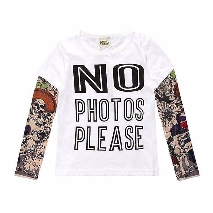 QUICKLYLY Camisetas de Manga Larga para Bebé Niña Niño Niñito Tops Blusas Sudadera Jersey (12Meses