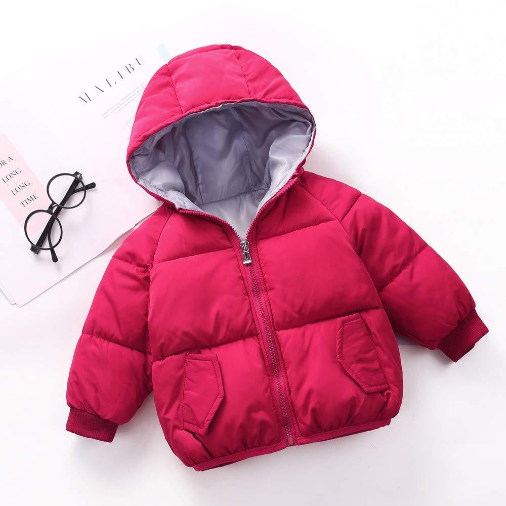 DIGOOD Teen Toddler Baby Girls Cartoon Banana Hooded Cotton Padded Coat,Kids Keep Warm Jacket Winter Outerwear Tops Clothes