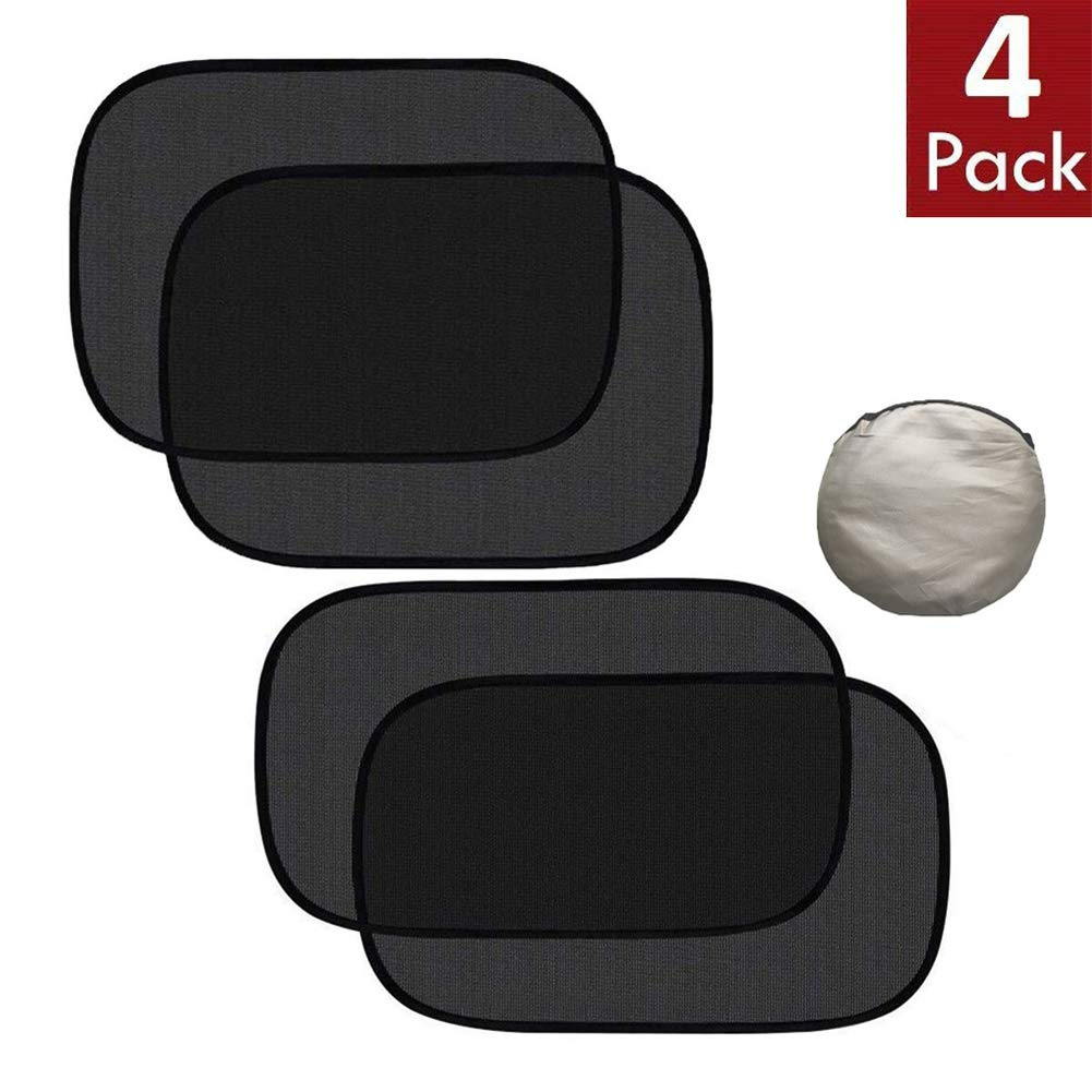 Glare and UV Rays Protection for Your Child Car Window Shade 4 Pack Sunshade for Car Side Window Clings Baby Side Window Car Sun Shades Sun