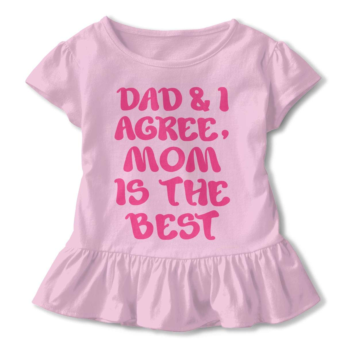 NMDJC CCQ Dad and I Agree Mom is The Best Baby Skirts Fashion Kids T Shirt Dress Comfortable Flounces Outfits