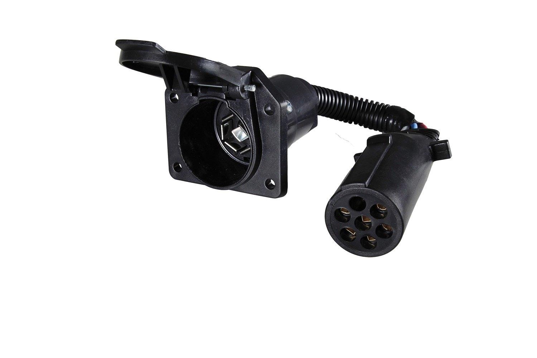 Hopkins 47425 7 Pin Round to 7 RV Blade Adapter