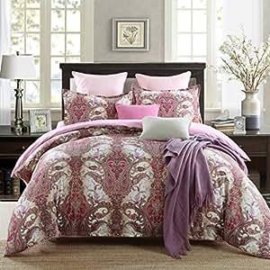 GOOFUN-L2K 3pcs Luxury Duvet Cover Set/Bedding Set(1 Duvet Cover + 2 Pillow Shams) Lightweight Microfiber Well Designed Print Pattern - Comfortable, Breathable, Soft & Extremely Durable,King Size
