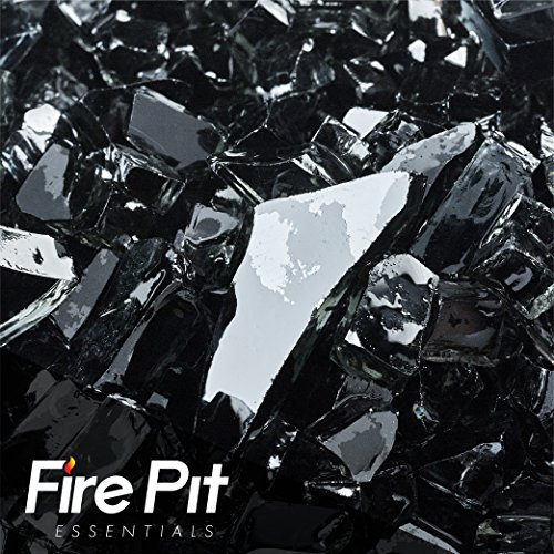 Fireglass 10-pound Fire Glass with Fireplace Glass and Fire Pit Glass, 1/4-inch, Black
