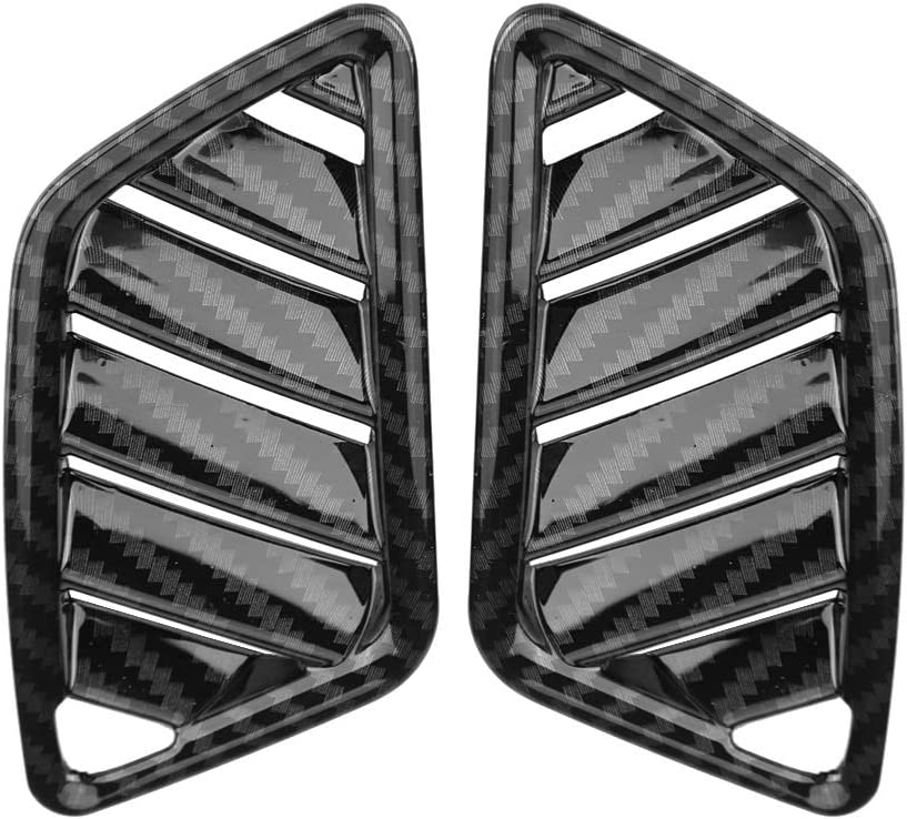 KSTE 2Pcs Interior Upper Air Vent Outlet Cover Trim Compatible with Mitsubishi Eclipse Cross 17-18 Carbon Fiber