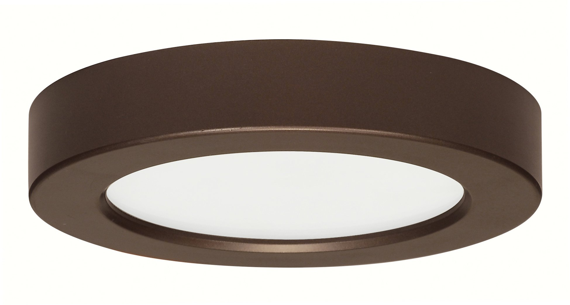 (Pack of 12) Satco Products S9322 Blink Flush Mount LED Fixture, 10.5W/5'', Bronze by Satco