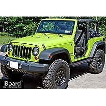 "Matte Black 4"" iBoard Running Boards Fit 07-17 Jeep Wrangler 2 Door Nerf Bar Side Steps Tube Rail Bars Step Board"