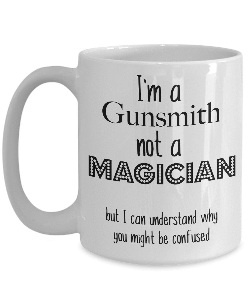 面白いGunsmithマグ, Gifts for GUNSMITH、コーヒーカップ 15oz GB-1648981-43-White 15oz ホワイト B0768F5SP3