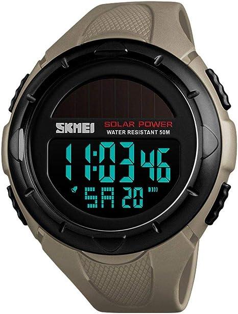 ZHAOKL Reloj Digital para Hombre,Caqui Relojes Hombre Relojes ...
