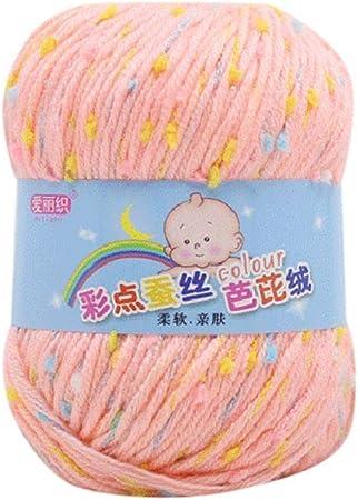 Depory - Hilo de ganchillo para tejer a mano, lana gruesa, colorida, de algodón, para tejer, mantas de lana, guante y bebé (C): Amazon.es: Hogar