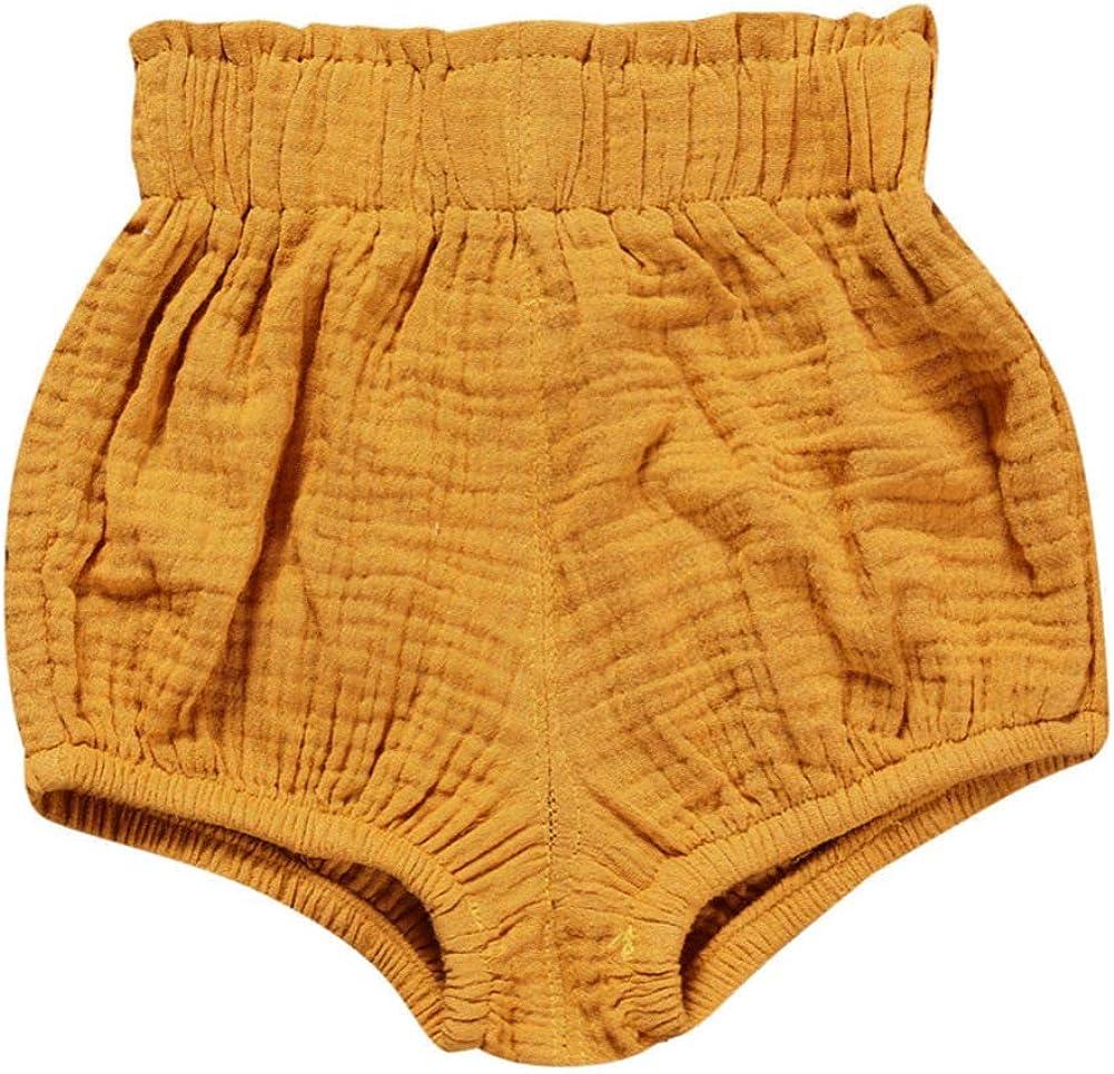 Miyanuby Neugeborenes Baby M/ädchen Shorts Hose Elastische Taille Pull-on Diaper Cover Trainerhosen Bottoms
